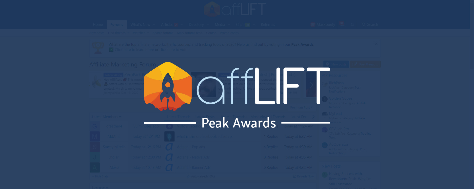 MaxBounty Nominated for affLIFT Top Affiliate Network Award | Vote Now